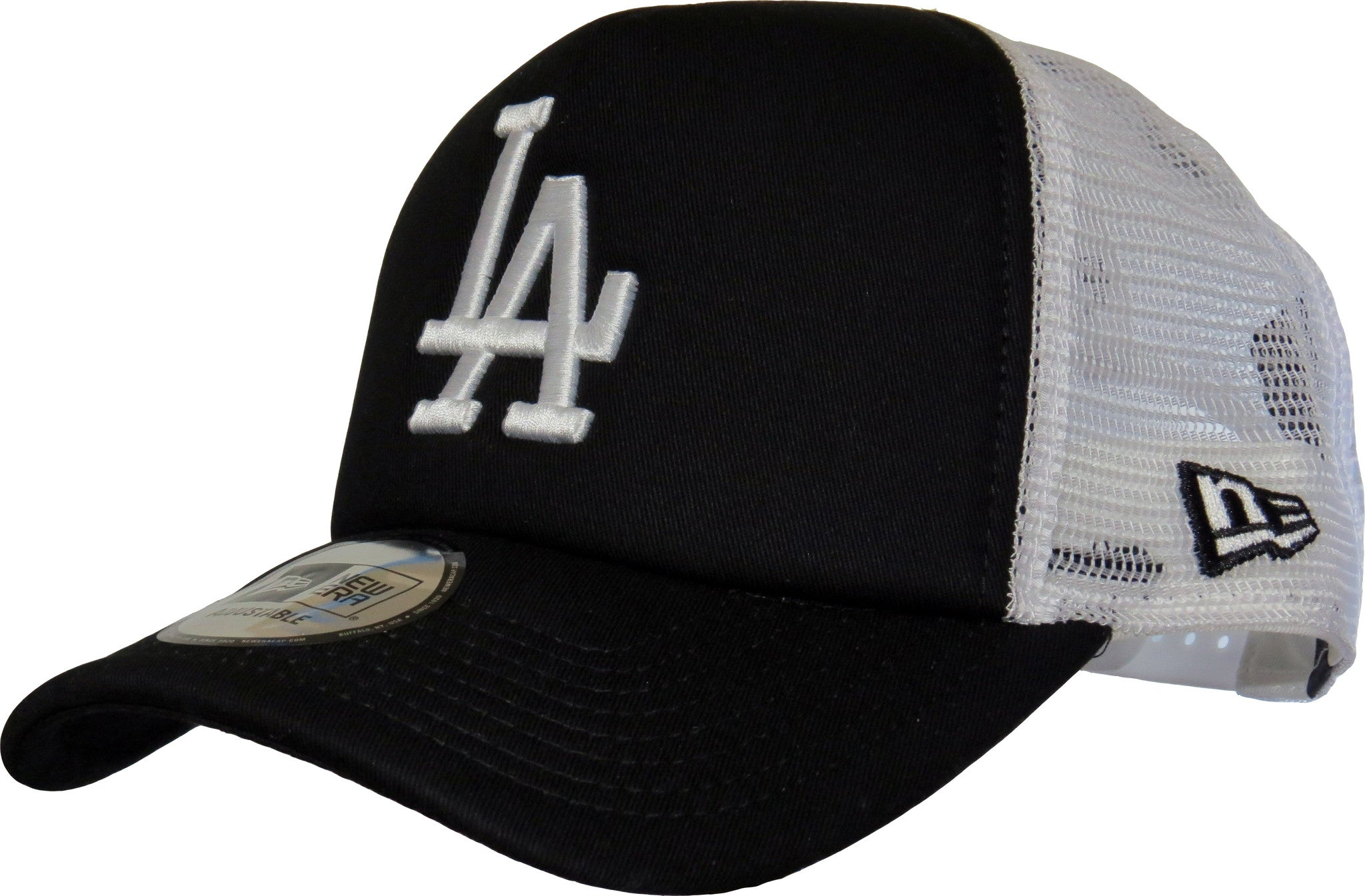LA Dodgers New Era MLB Clean Trucker Black Cap - pumpheadgear d0e280f60ff7