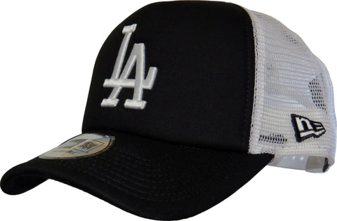 LA Dodgers New Era MLB Clean Trucker Black Cap - pumpheadgear, baseball caps