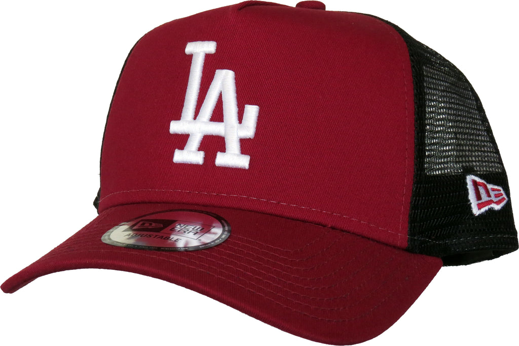more photos fa52e 7979a LA Dodgers New Era League Essential Cardinal Trucker Cap