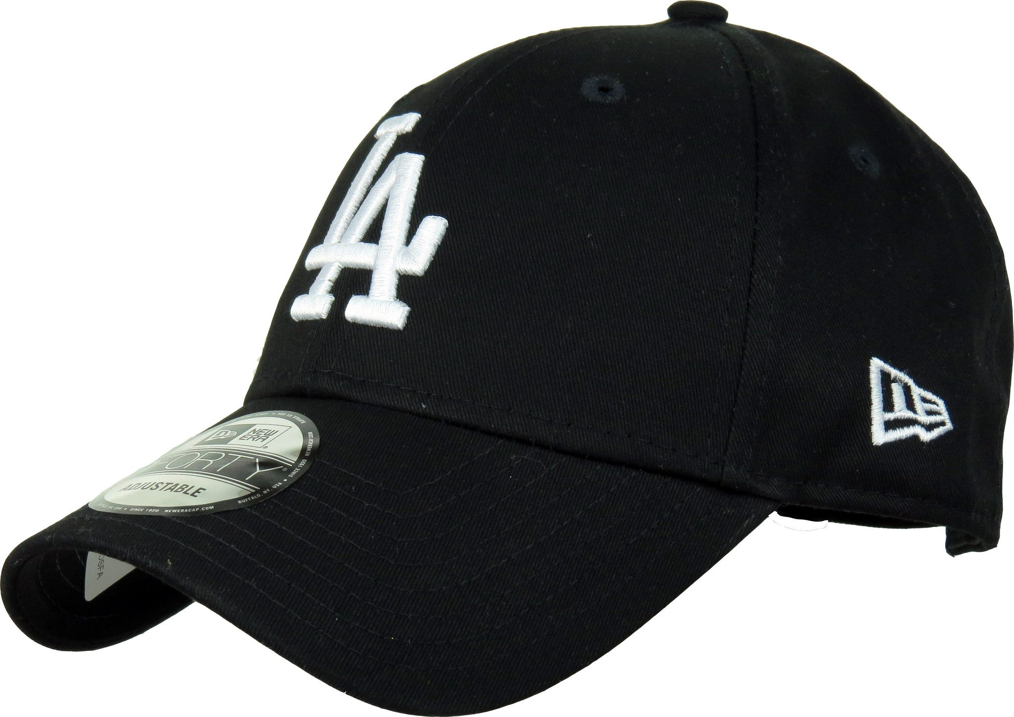 the best attitude c3481 f1c9e LA Dodgers New Era 940 League Essential Black Baseball Cap - pumpheadgear, baseball  caps ...