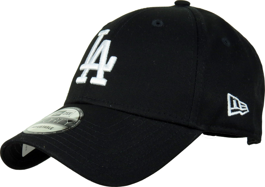 LA Dodgers New Era 940 League Essential Black Baseball Cap - pumpheadgear, baseball caps