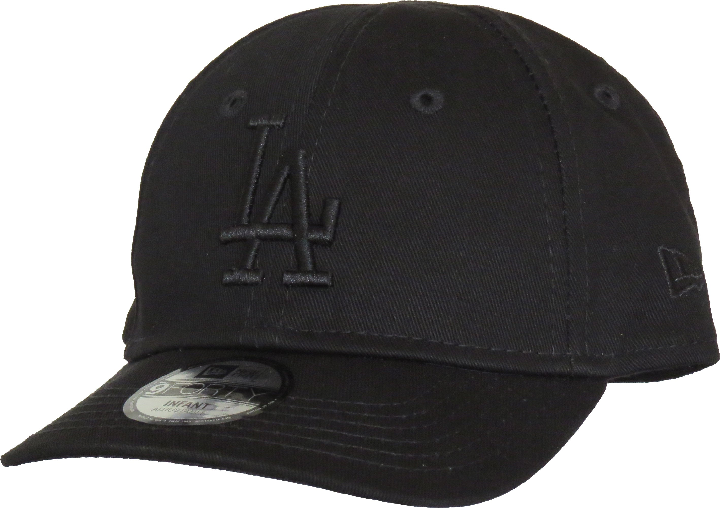 5ec255a81da LA Dodgers New Era 940 Stretch Fit Infants Black Cap (0-2 years) ...