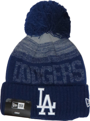 LA dodgers New Era Kids Sport Knit Bobble Hat (Ages 2 - 10 years)