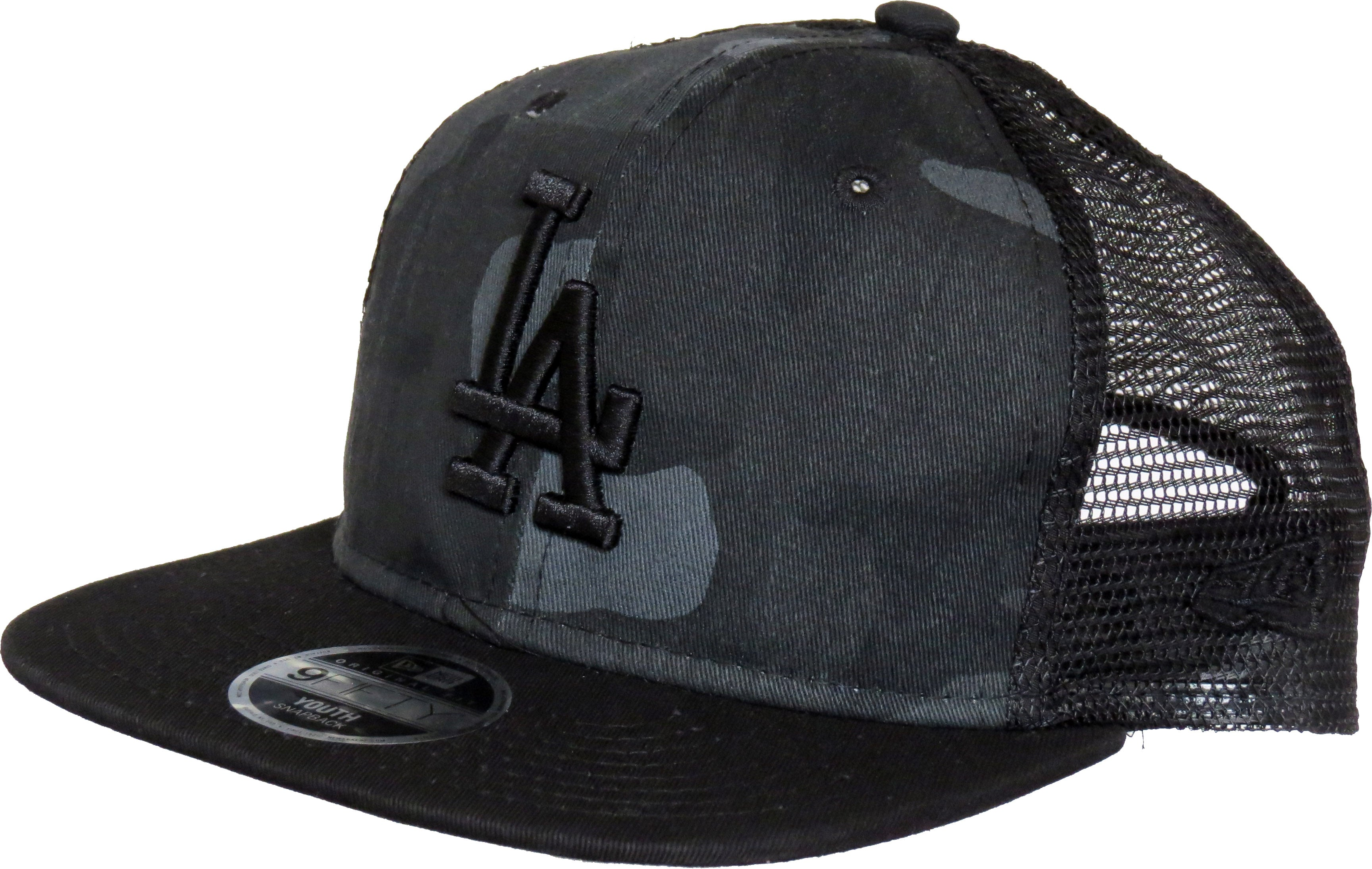 LA Dodgers New Era 950 Kids Washed Camo Snapback Cap (Age 5 - 10 years ... 8b7171bf847