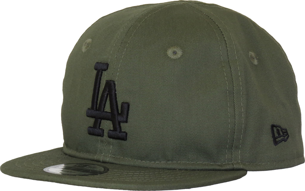 LA Dodgers New Era 950 Infants Olive Snapback Cap (0 - 2 years)