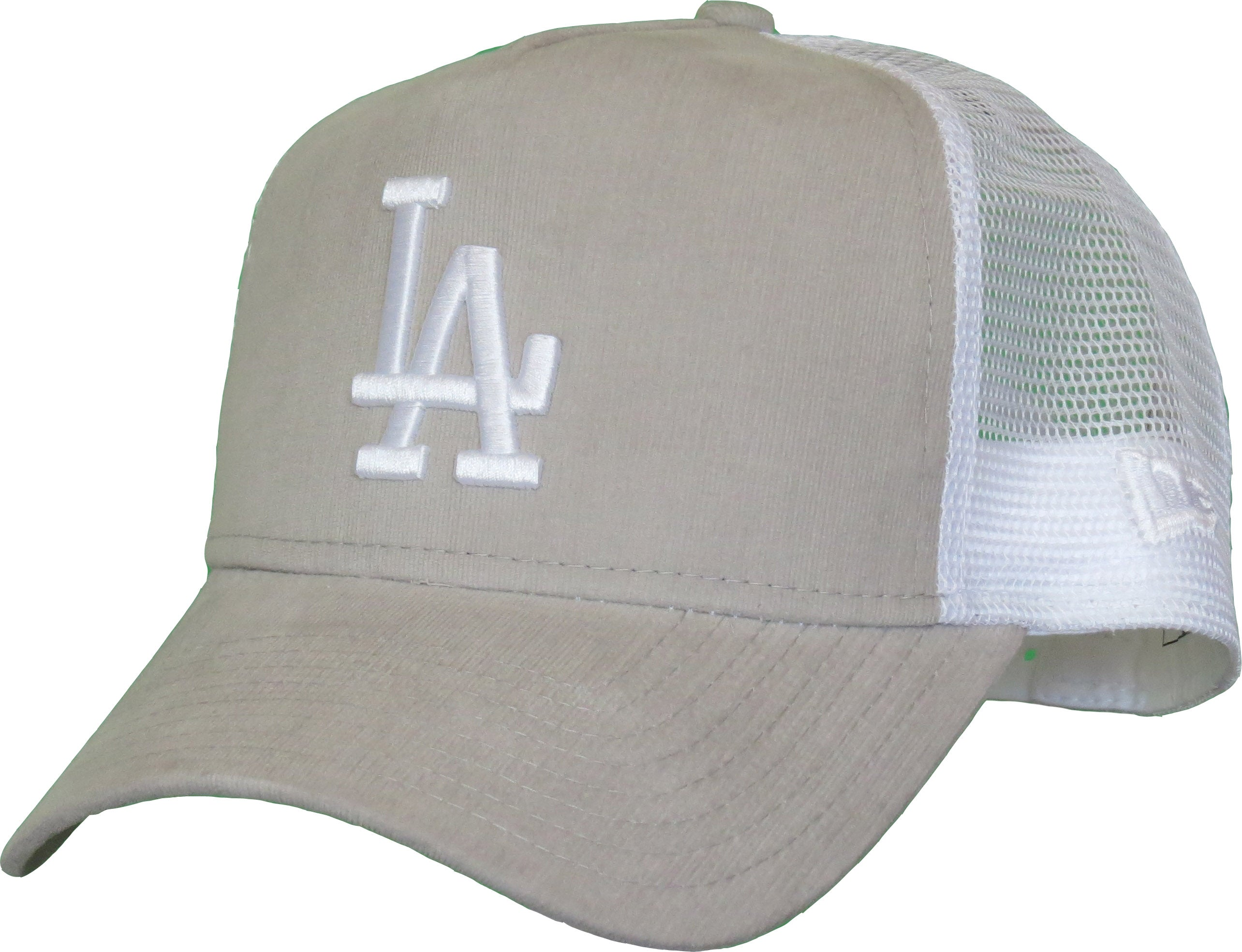 LA Dodgers Womens New Era Micro Cord A-Frame Trucker Cap - pumpheadgear 76e6afbd586