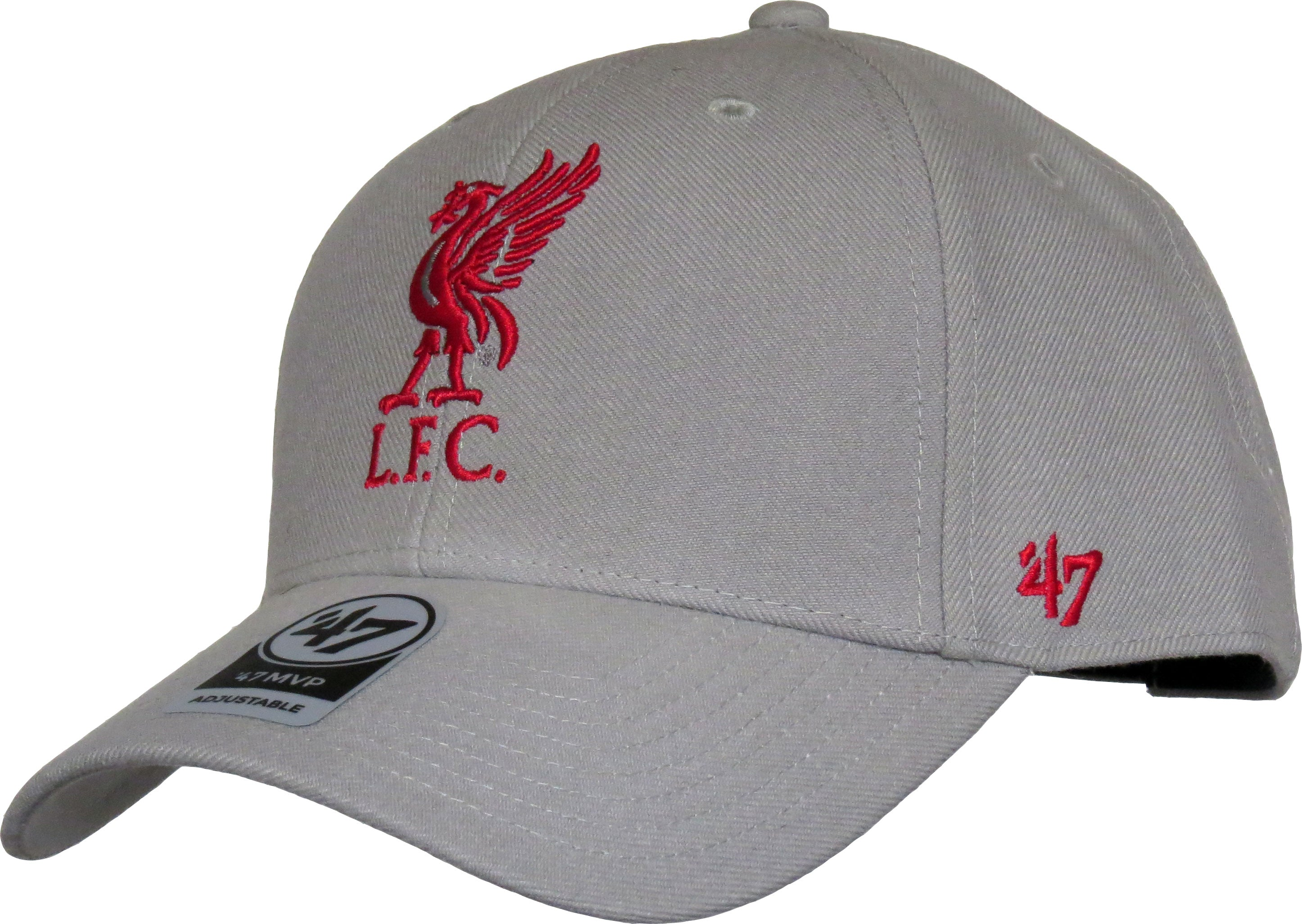 a0a1ae9b024db Liverpool FC 47 Brand MVP Adjustable Grey Cap - pumpheadgear