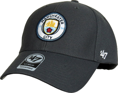 Manchester City FC 47 Brand MVP Adjustable Graphite Cap - pumpheadgear, baseball caps