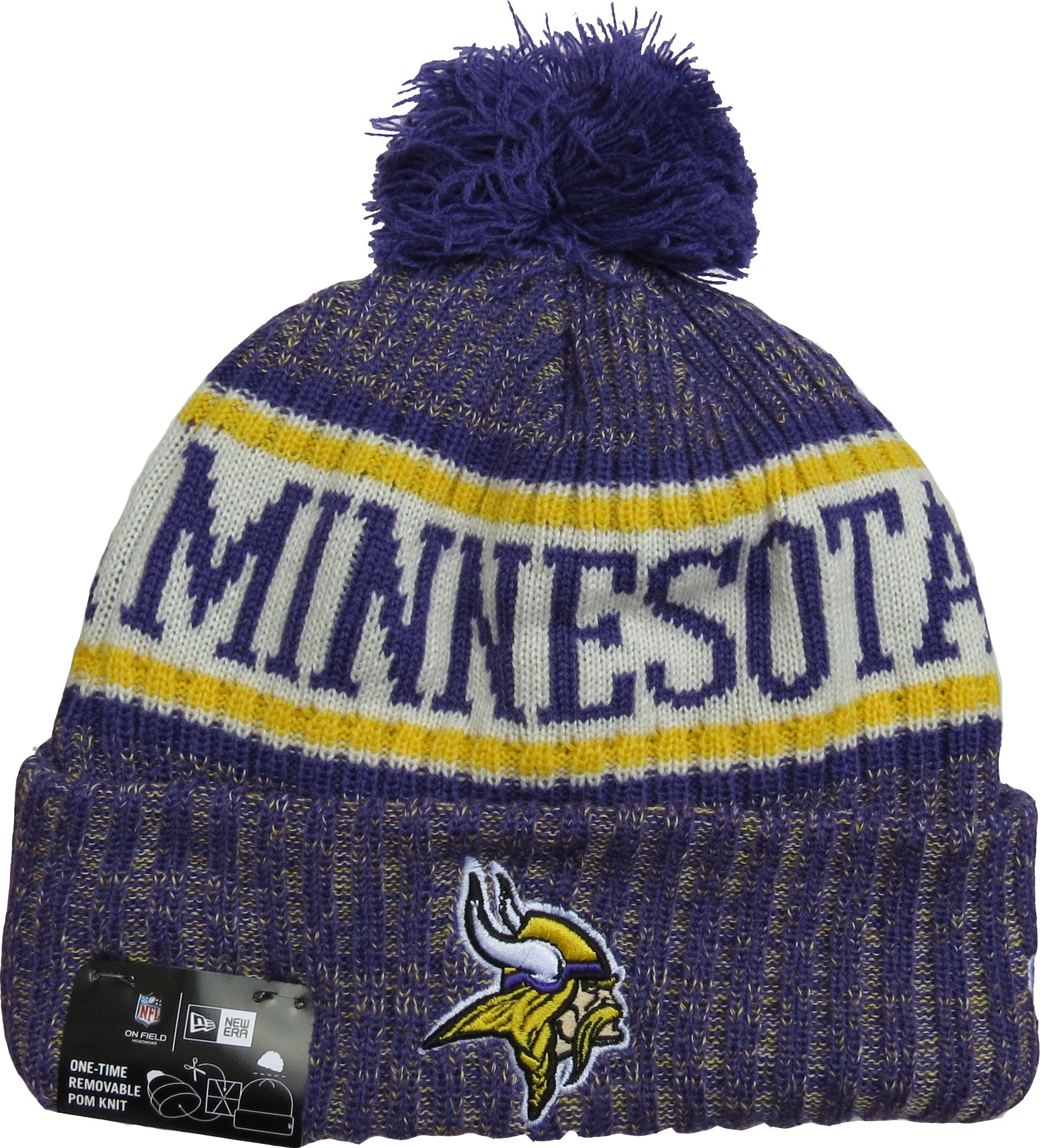 99a3313e3 Minnesota Vikings New Era NFL On Field 2018 Sport Knit Bobble Hat –  lovemycap