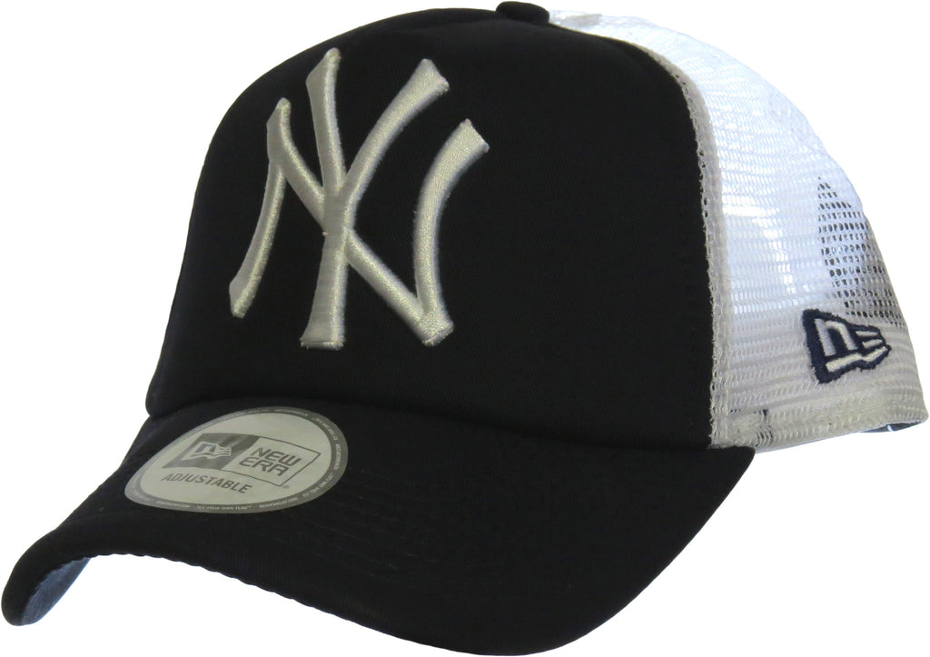 NY Yankees New Era Clean Trucker Cap - Navy/White - pumpheadgear, baseball caps