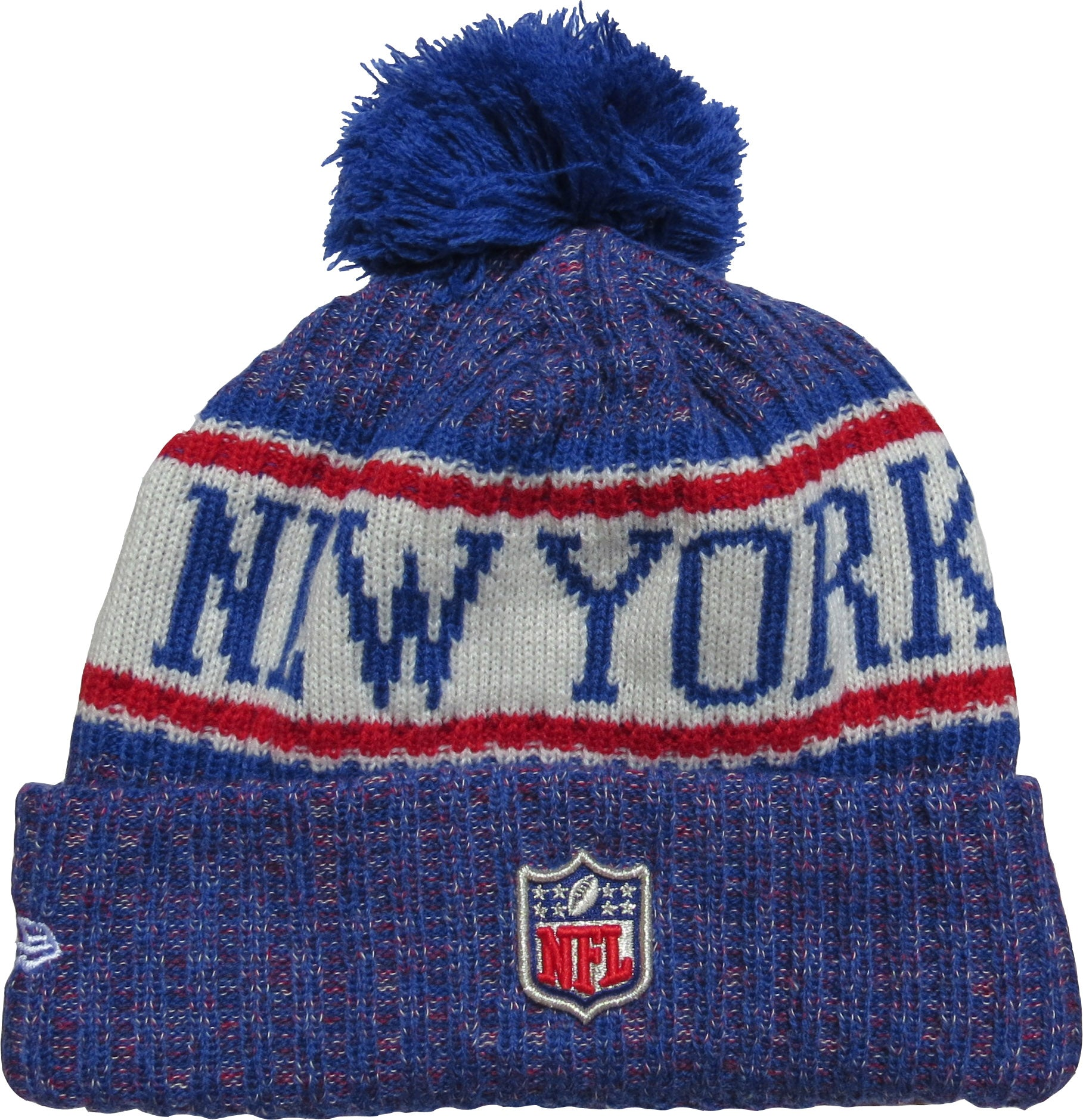 ... reduced new york giants new era nfl on field 2018 sport knit bobble hat  3cb6c ac205 b6ae8960c