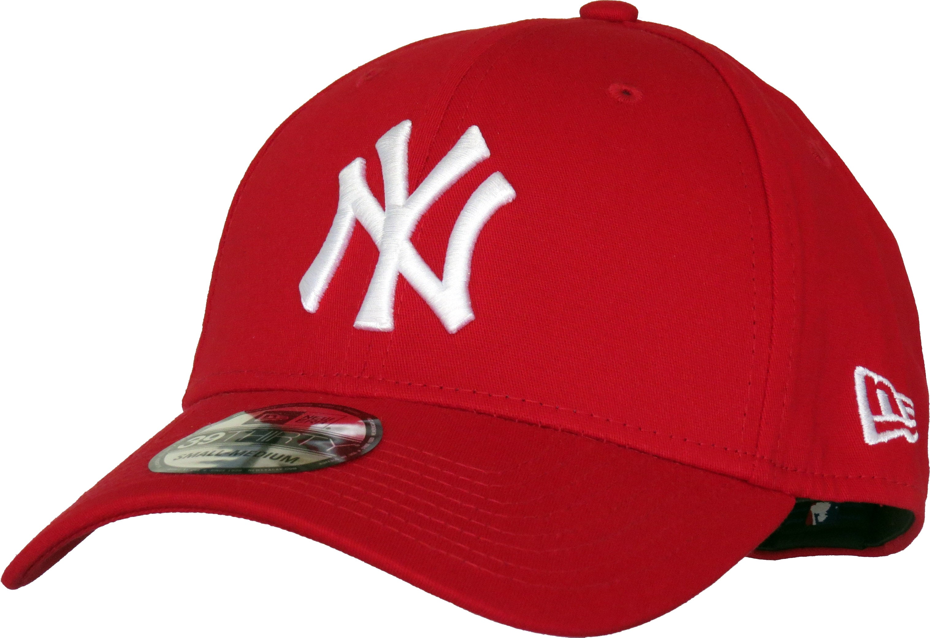 New Era 3930 League Basic NY Scarlet Stretch Fit Baseball Cap – lovemycap 81435d31e590