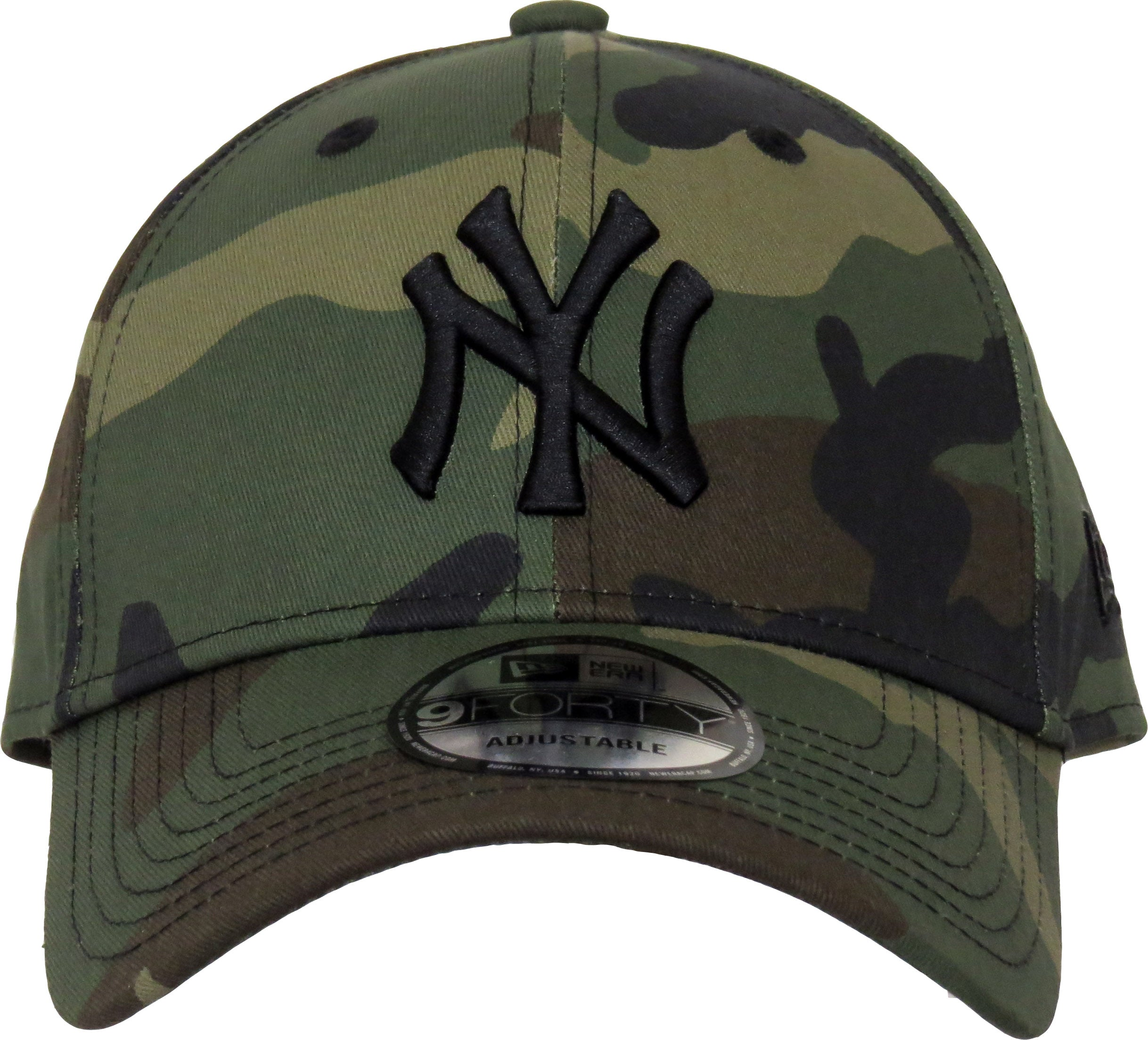 NY Yankees New Era 940 League Essential Camo Baseball Cap – lovemycap 5510363d17a