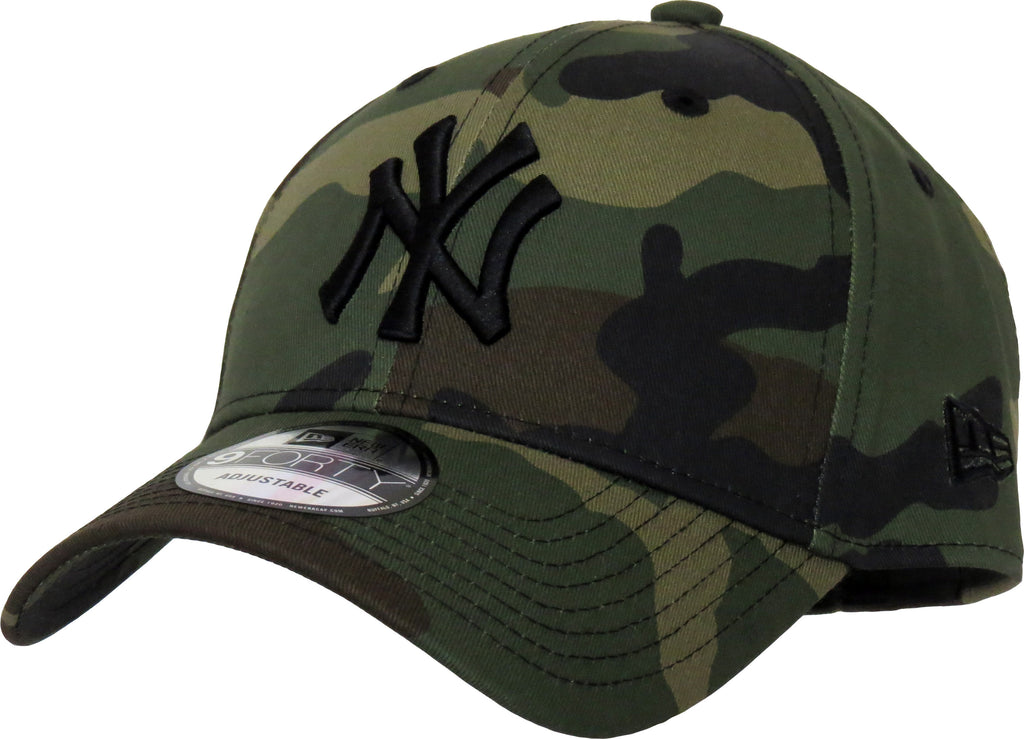 NY Yankees New Era 940 League Essential Camo Baseball Cap - pumpheadgear, baseball caps