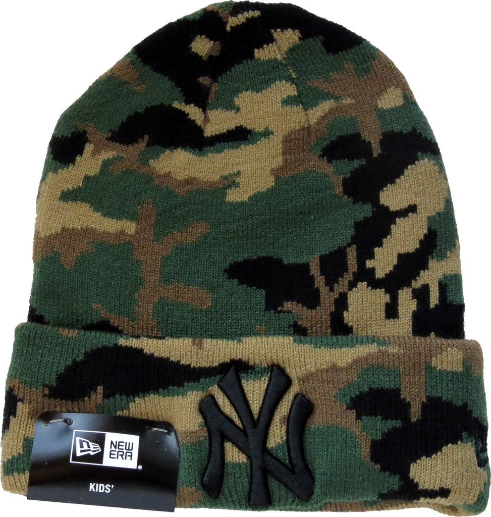 NY Yankees New Era Woodland Camo Kids Beanie (Age 4 - 10 Years)