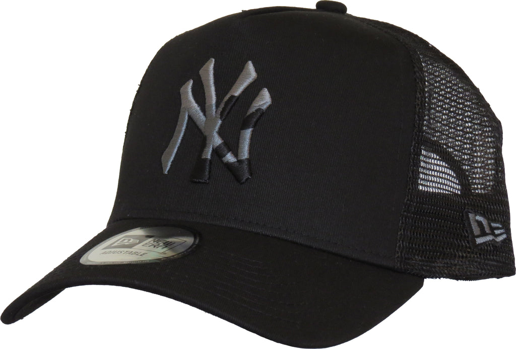 NY Yankees New Era Camo Infill Black Trucker Cap