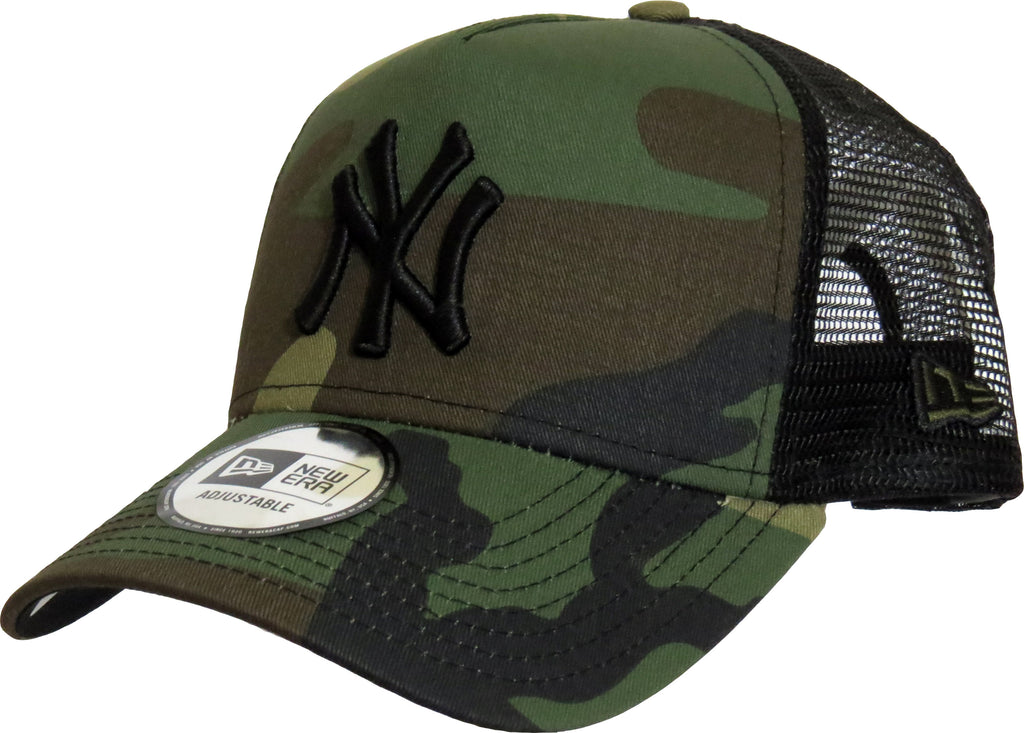 NY Yankees New Era Woodland Camo Clean Trucker Cap