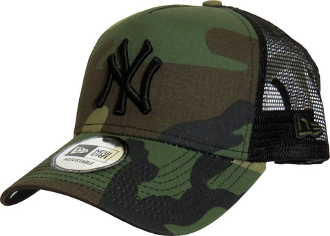 NY Yankees New Era Woodland Camo Clean Trucker Cap - pumpheadgear, baseball caps