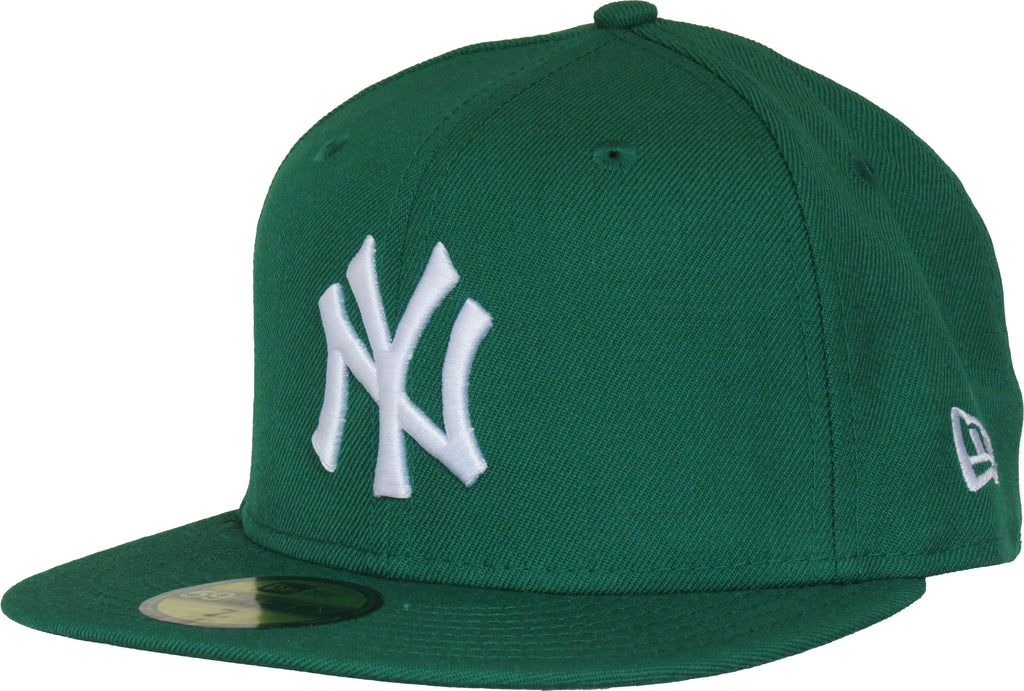 NY Yankees New Era 5950 MLB Kelly Green Baseball Cap - pumpheadgear, baseball caps