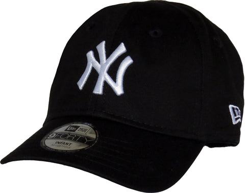 New Era 940 NY Yankees Stretch Fit Infants Black Cap (0-2 years) - pumpheadgear, baseball caps