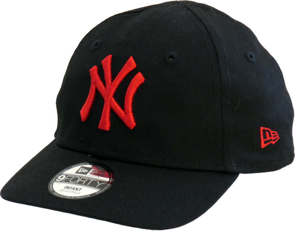 NY Yankees New Era 940 Stretch Fit Infants Black Cap (0-2 years) - pumpheadgear, baseball caps
