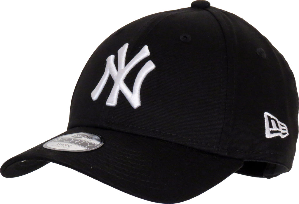 NY Yankees New Era 940 Kids Black Baseball Cap (Age 4 - 10 Years)
