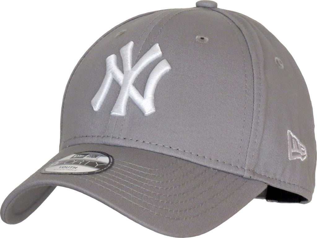 NY Yankees New Era 940 Kids Grey Baseball Cap - pumpheadgear, baseball caps
