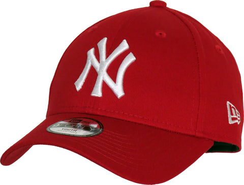 NY Yankees New Era 940 Kids Scarlet Baseball Cap - pumpheadgear, baseball caps