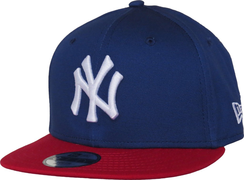 New Era 950 Kids Cotton Block NY Blue/Red Snapback Cap (Age 5 - 10 years) - pumpheadgear, baseball caps