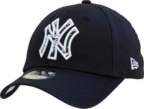 NY Yankees Kids New Era 940 Infill Navy Baseball Cap (Ages 2 - 10 years) - pumpheadgear, baseball caps