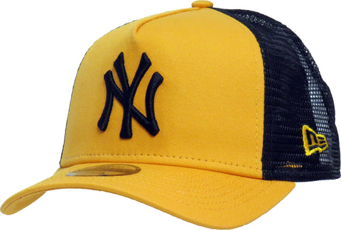 NY Yankees New Era Kids League Essential Yellow Trucker Cap (Ages 4 - 10 years)
