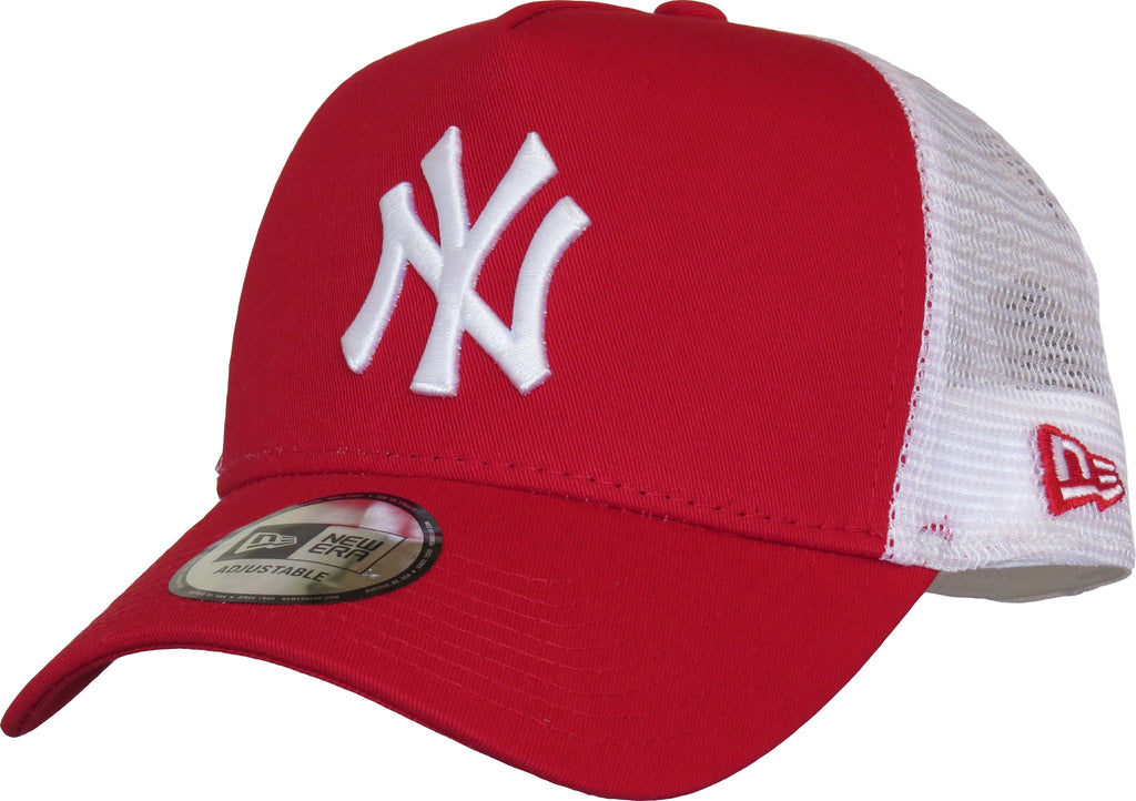 NY Yankees New Era Red Clean Trucker Cap