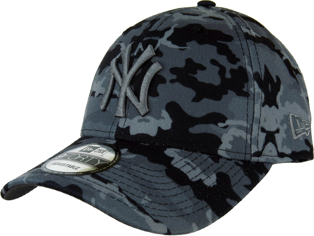 NY Yankees New Era 940 Seasonal Midnight Camo Baseball Cap - pumpheadgear, baseball caps