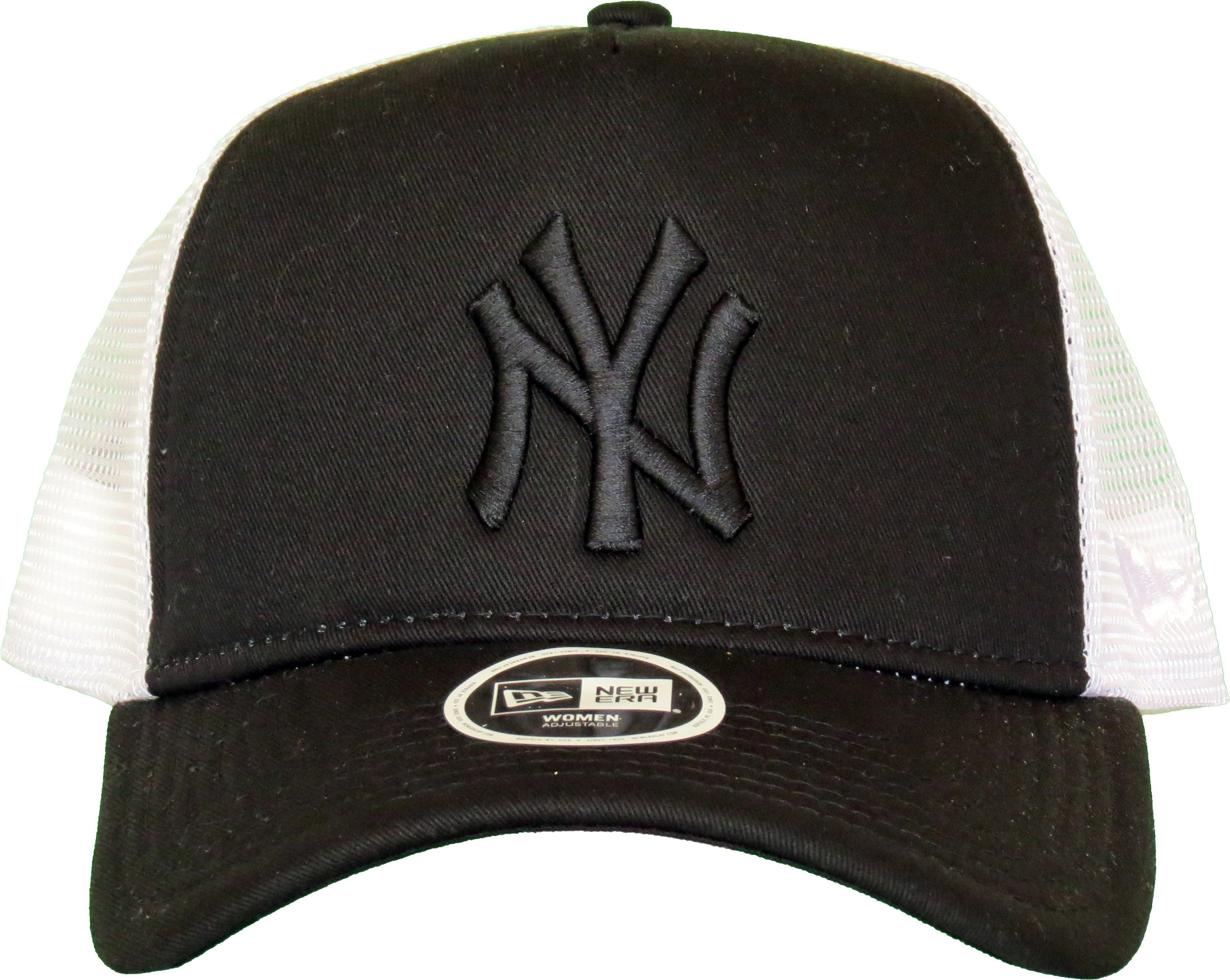 NY Yankees Womens New Era League Essential Black Trucker Cap – lovemycap 688946751fdc