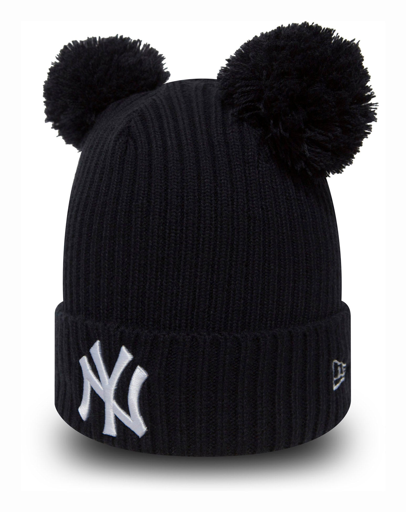 797ae049223 NY Yankeess New Era Girls Double Pom Bobble Hat (5 - 10 years) – lovemycap