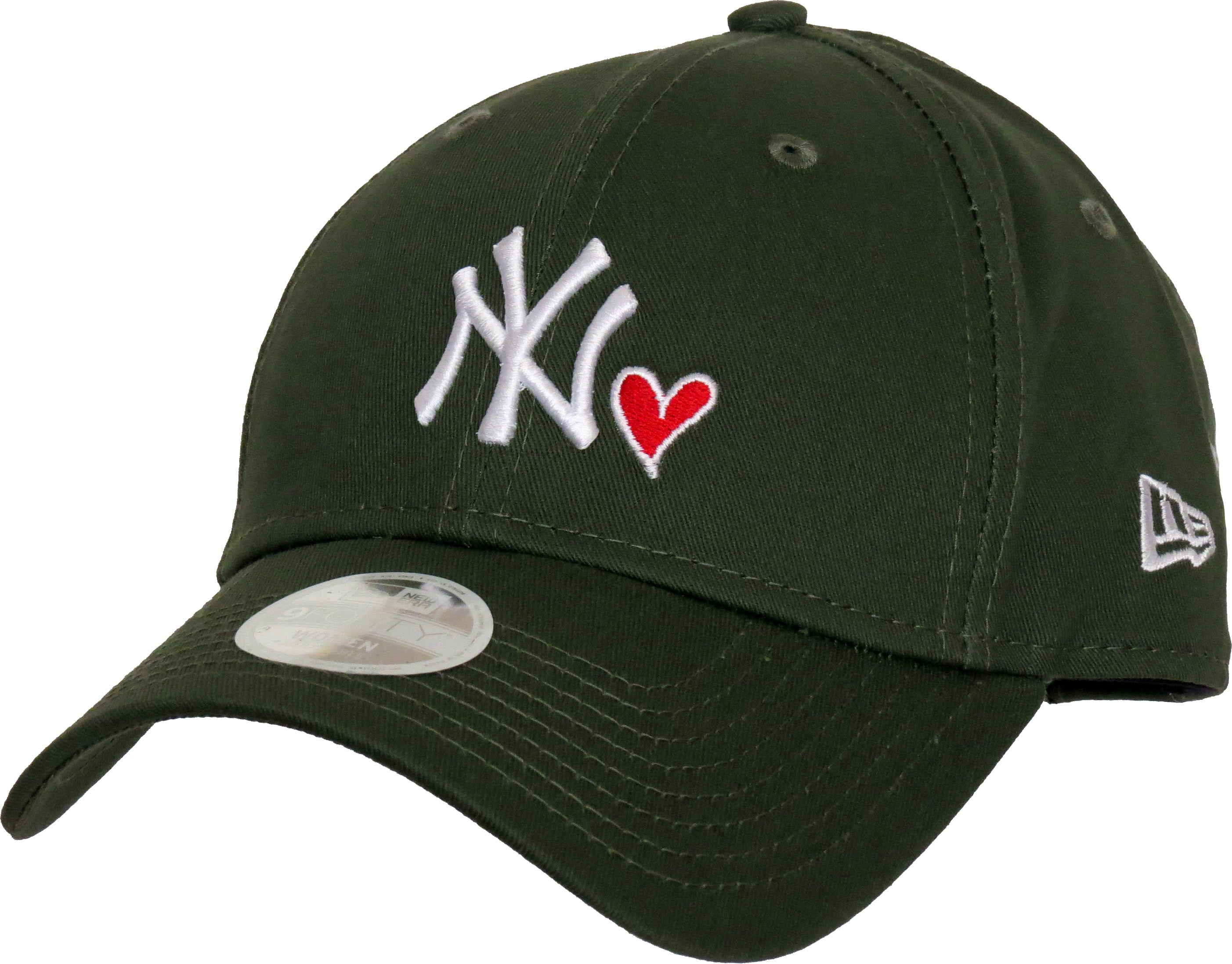 NY Heart Womens New Era 940 Olive Baseball Cap – lovemycap 425d2a892