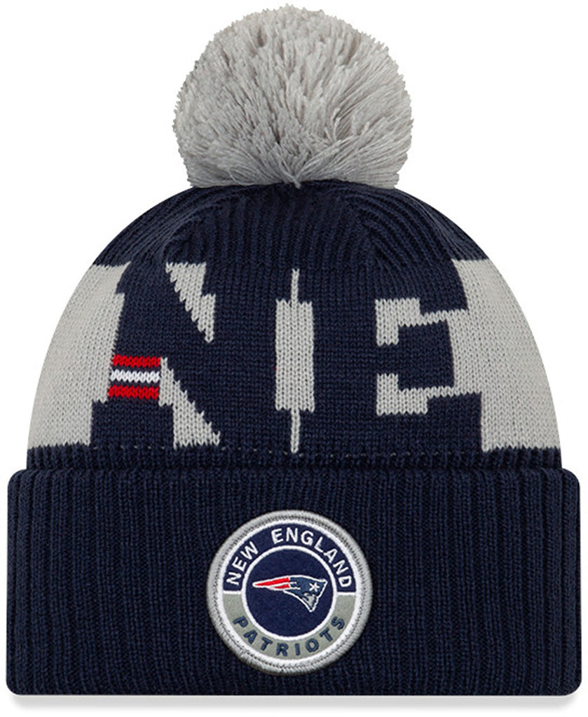 New England Patriots New Era NFL On Field 2020 Sport Knit Bobble Hat