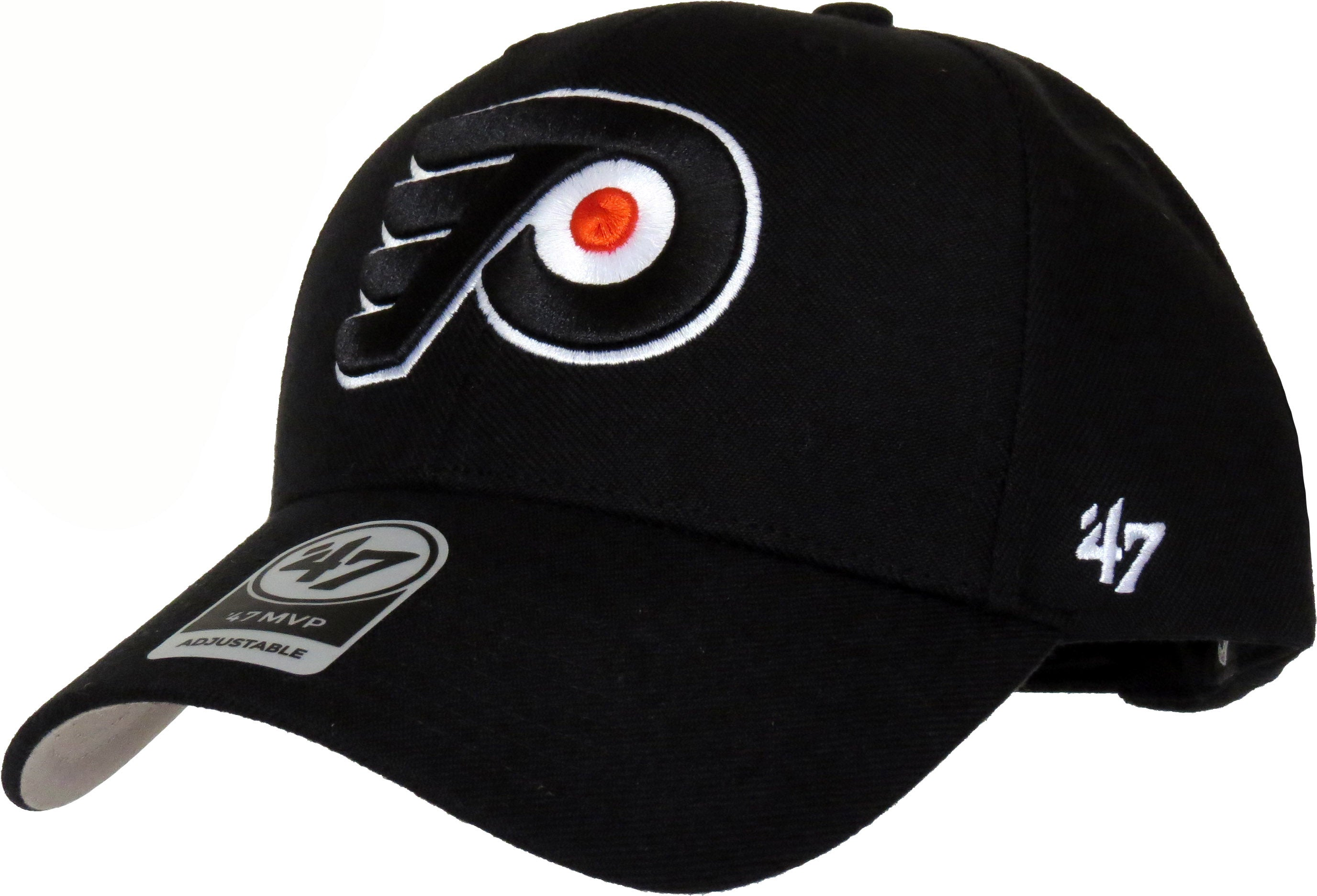 Philadelphia Flyers 47 Brand MVP Adjustable Black NHL Cap – lovemycap 3728145e37b8