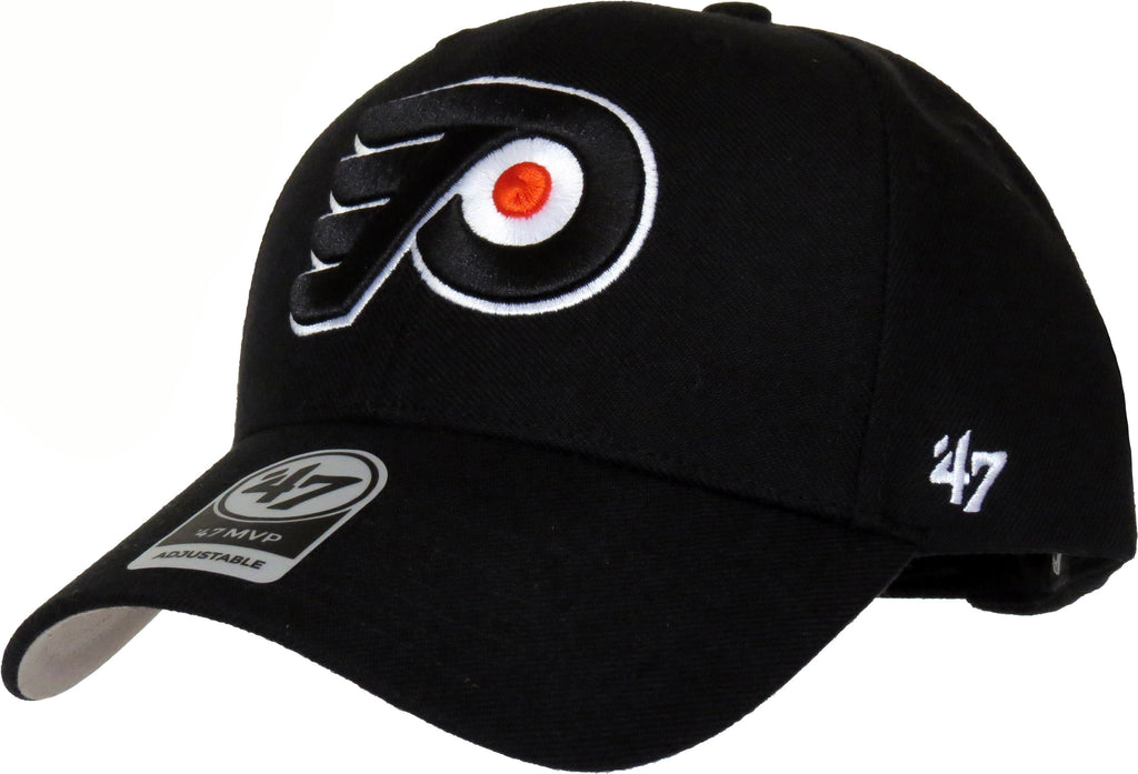 Philadelphia Flyers 47 Brand MVP Adjustable Black NHL Cap