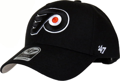 Philadelphia Flyers 47 Brand MVP Adjustable Black NHL Cap - pumpheadgear, baseball caps