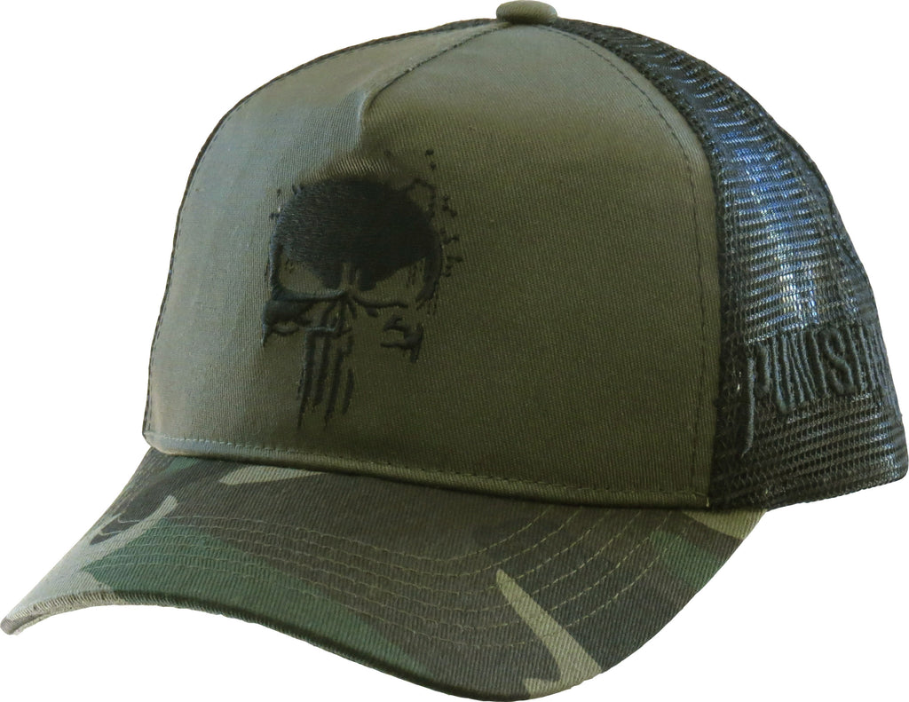 Marvel Comics The Punisher Camo Trucker Cap - pumpheadgear, baseball caps