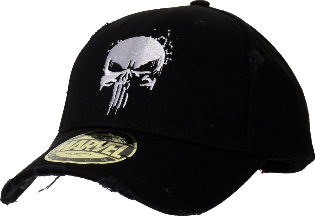 Marvel Comics The Punisher Destroyed Black Cap - pumpheadgear, baseball caps