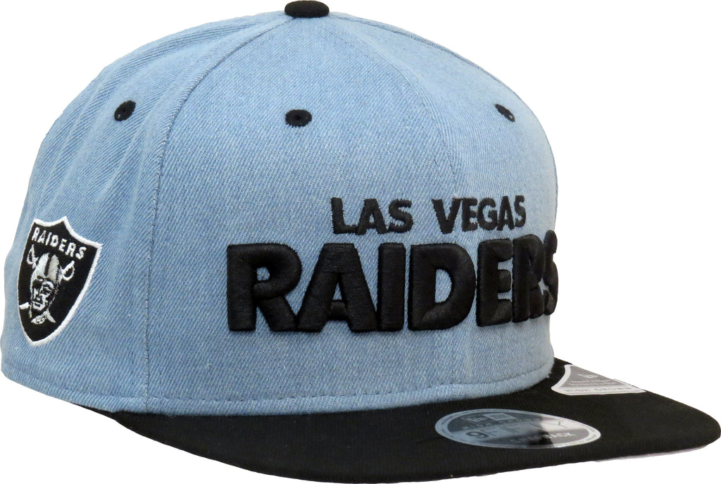 Las Vegas Raiders New Era 950 Denim Snapback Cap - pumpheadgear, baseball caps