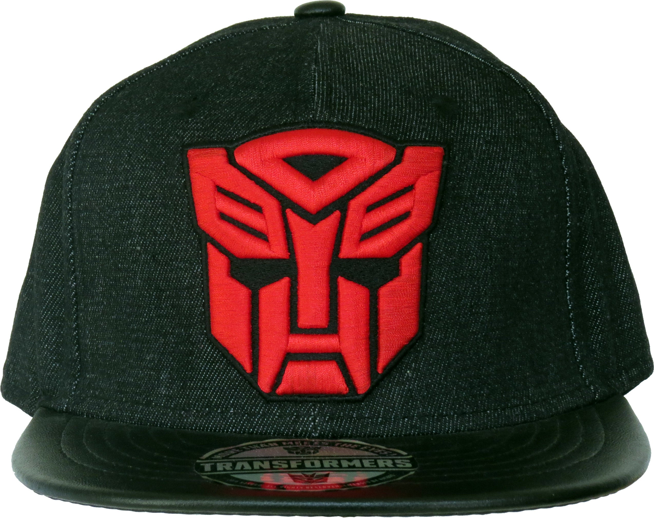 8b98ca87ff9a4 ... Transformers 3D Red Autobot Logo Black Snapback Cap - pumpheadgear