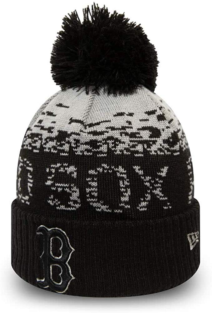 Boston Red Sox New Era MLB Sport Knit Kids Bobble Hat (Age 5 - 10 Years)