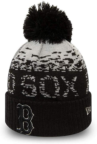 Boston Red Sox New Era MLB Sport Knit Kids Bobble Hat (Age 5 - 10 Years) - lovemycap