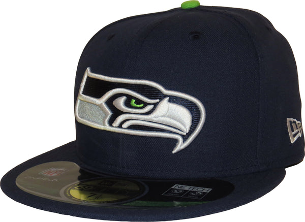 afc5bd2d Seattle Seahawks New Era 59Fifty NFL On Field Game Cap + Gift Box