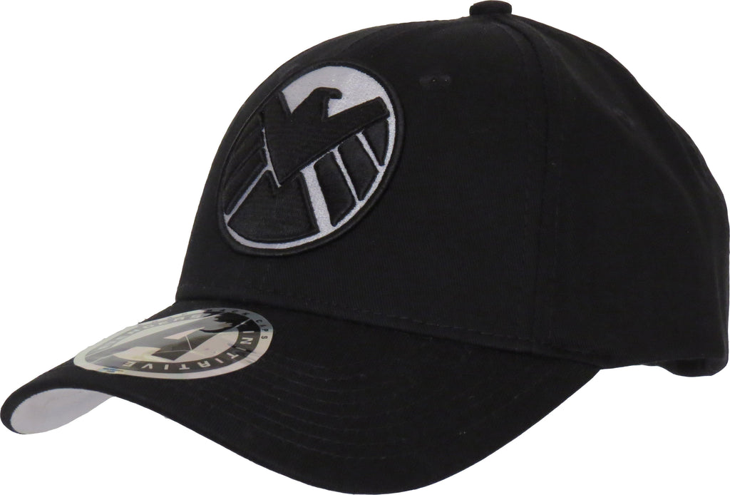 Marvel Avengers Agents of SHIELD Adjustable Black Cap - pumpheadgear, baseball caps