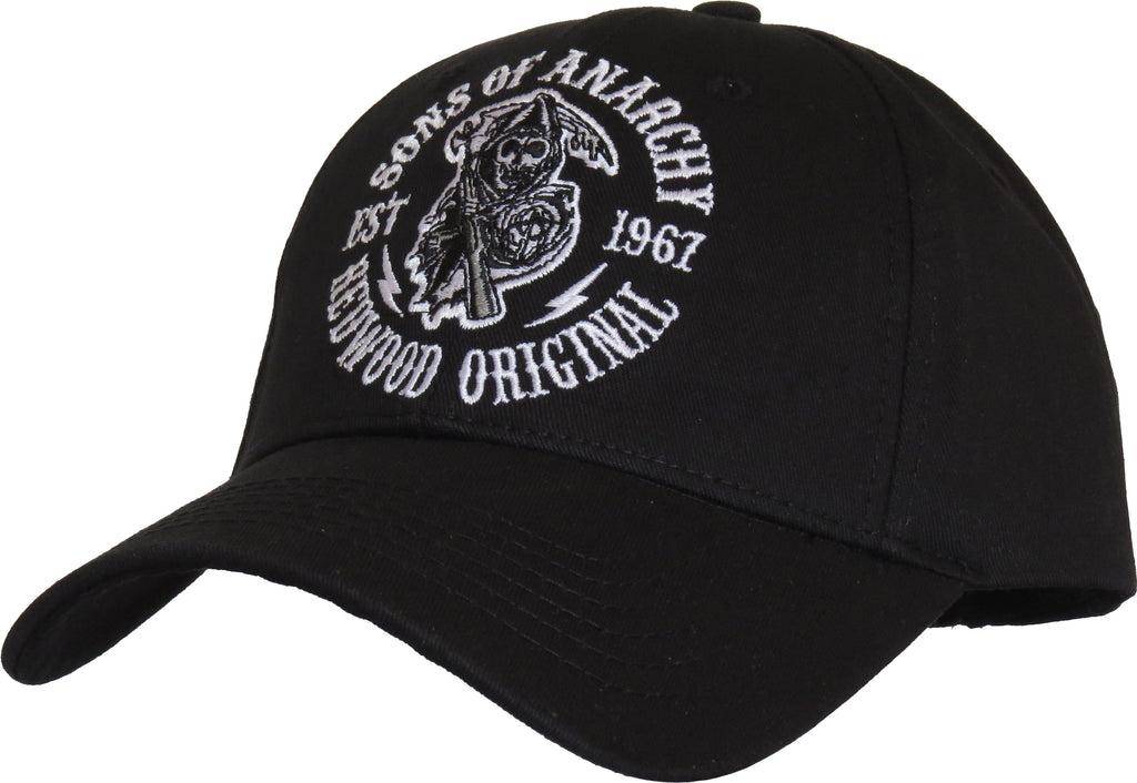 Sons Of Anarchy Redwood Black Baseball Cap