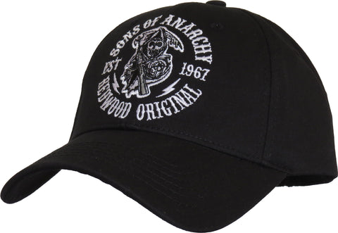 Sons Of Anarchy Redwood Black Baseball Cap - pumpheadgear, baseball caps